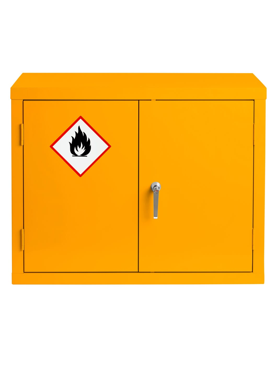 Yellow Flammable Made To Order Cabinet Wall Mounted